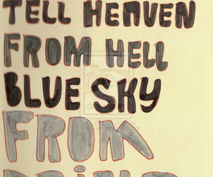 blue sky, heaven, and hell image