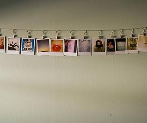 polaroid, photo, and wall image