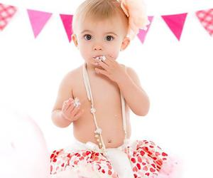 baby, bunting, and cake image