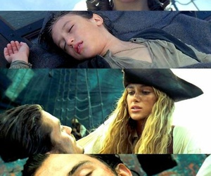 Adult, child, and pirate image