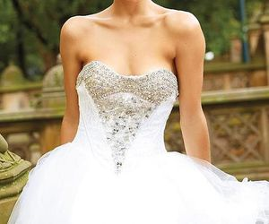 dress, photography, and wedding dress image