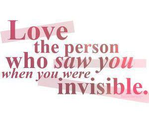 love, invisible, and quote image