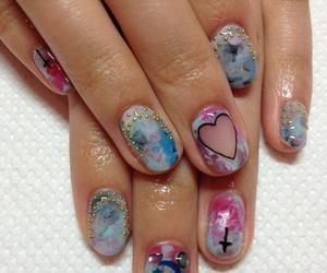 nails, nail art, and hipster image