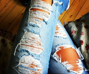 blonde, jeans, and legs image