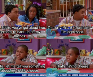 that's so raven, nachos, and depressed image