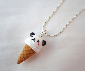 panda, cute, and necklace image