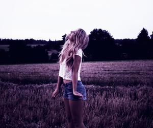 fashion, fields, and girl image