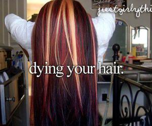 dying, girly, and hair image