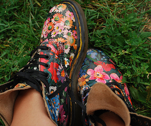 floral, boots, and fashion image