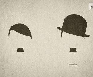 hat, hitler, and chaplin image