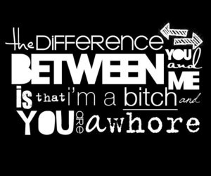 bitch, between, and difference image