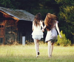best friends, field, and photography image