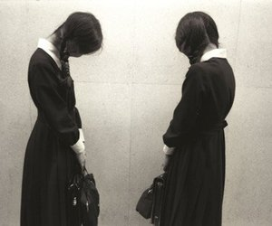 girls, twins, and black image