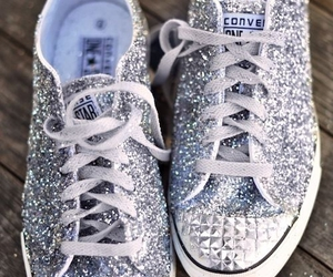 converse, shoes, and glitter image