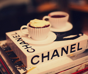 chanel, book, and coffee image