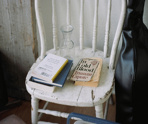 book, vintage, and chair image