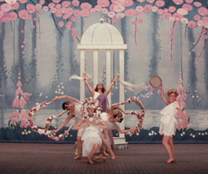 girl, flowers, and dance image