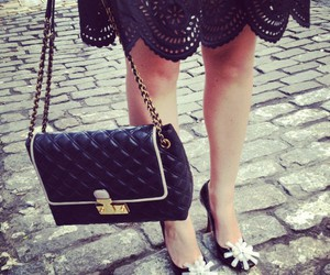 black, purse, and black and white image