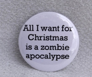 christmas, zombie, and quote image