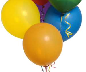 balloons and overlay image