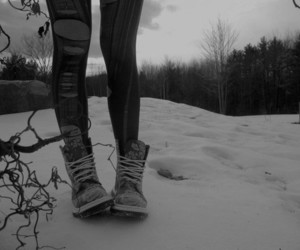 snow, shoes, and boots image