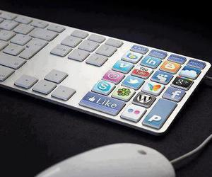 keyboard, cool, and facebook image