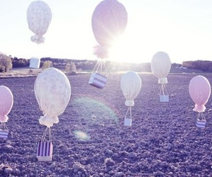 balloons, cute, and fly image