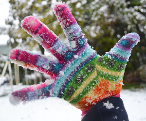 snow, gloves, and winter image