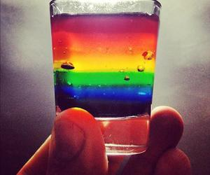drink, rainbow, and colorful image