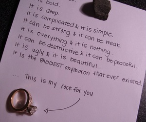love, rock, and ring image