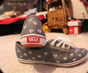 vans, shoes, and anchor image