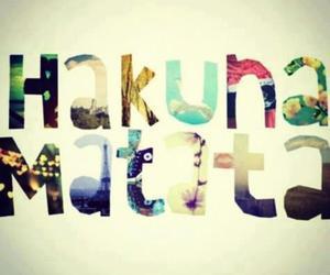 hakuna matata, no, and life image