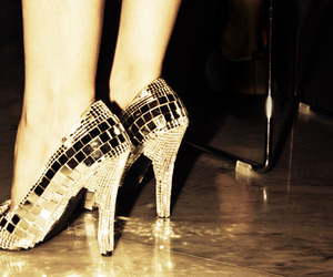 shoes, heels, and disco image