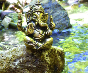 Ganesha, nature, and peaceful image