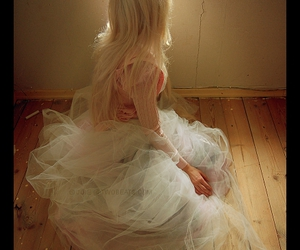 attic, blonde, and tulle image