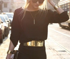 belt, blonde, and gold image