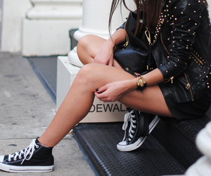 black, converse, and fashion image