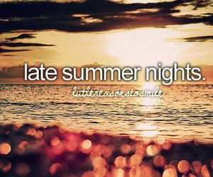 summer, night, and quote image