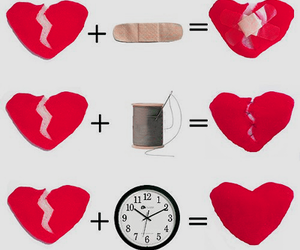 heart, time, and broken image