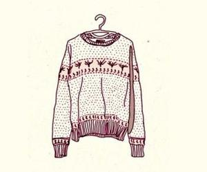 sweater, winter, and drawing image