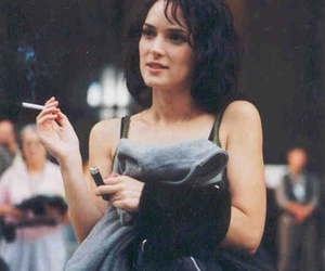 winona ryder, cigarette, and actress image