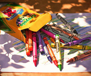 photography, crayon, and colors image