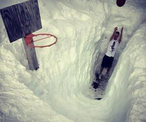 Basketball and snow image