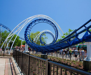 blue, photography, and Roller Coaster image