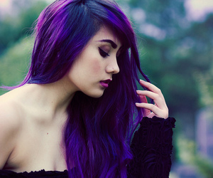amazing, colours, and purple hair image