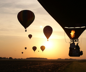 photography, balloons, and sun image