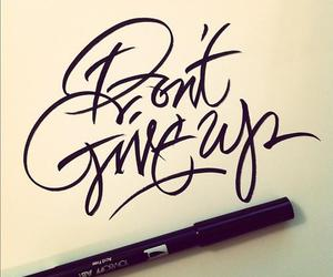 don't give up and quote image