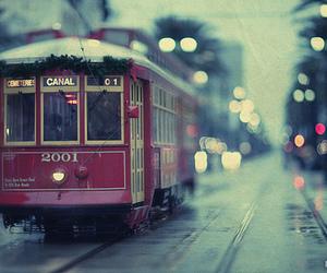 train, light, and winter image