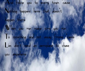 sky, text, and the avett brothers image