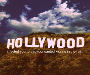 hollywood and text image